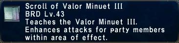 Valor Minuet III