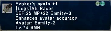 Evoker's Spats +1