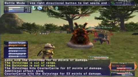 FFXI_NM_Saga_063_Dyinyinga_vs_BST_solo_Full_Battle