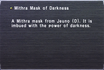 Mithra Mask of Darkness