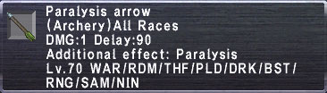 Paralysis Arrow