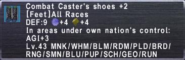 Combat Caster's Shoes +2