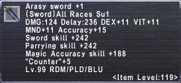 Arasy Sword +1