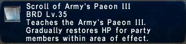Army's Paeon III