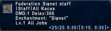 Federation Signet Staff