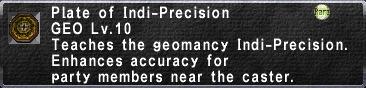 Plate of Indi-Precision