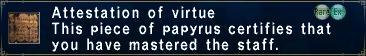 Attestation of Virtue