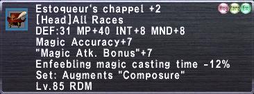 Estoqueur's Chappel +2