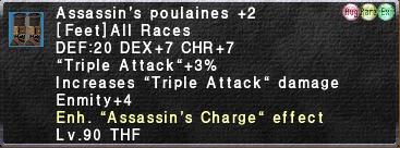 Assassin's Poulaines (Augmented) +2