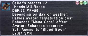 Caller's Bracers +2