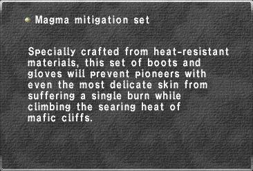 Magma mitigation set