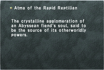 Atma of the Rapid Reptilian
