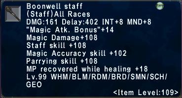 Boonwell Staff
