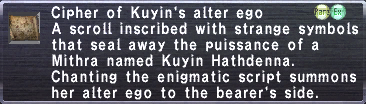 Cipher: Kuyin