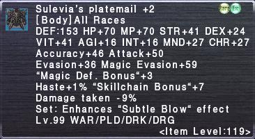 Sulevia's Platemail +2