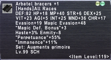Arbatel Bracers +1