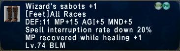 Wizard's Sabots +1
