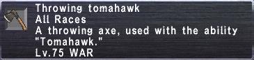 Throwing Tomahawk