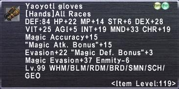 Yaoyotl Gloves
