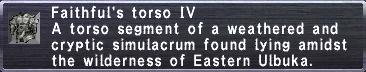Faithful's Torso IV