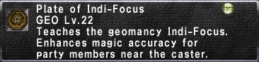 Plate of Indi-Focus