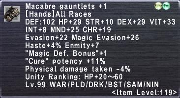 Macabre Gauntlets +1