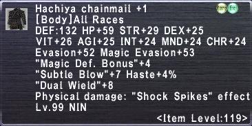 Hachiya Chainmail +1