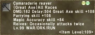Camaraderie Reaver