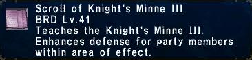 Knight's Minne III