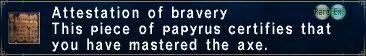 Attestation of Bravery