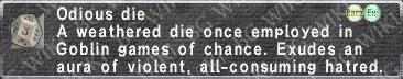 Odious Die