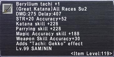 Beryllium Tachi +1