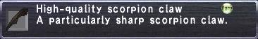 High-Quality Scorpion Claw