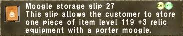 Storage Slip 27