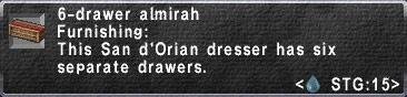 6-Drawer Almirah