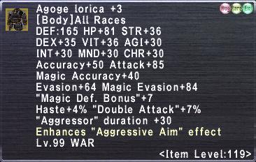 Agoge Lorica +3