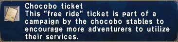 Chocobo Ticket