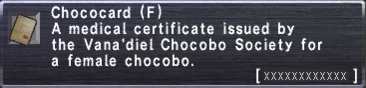 Chococard (F)