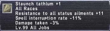 Staunch Tathlum +1