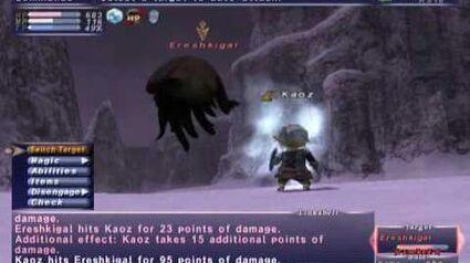 FFXI_NM_Saga_174_Ereshkigal_vs_BST_Rare_Spawn,_Full_Battle