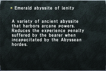 Emerald abyssite of lenity