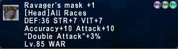 Ravager's Mask +1