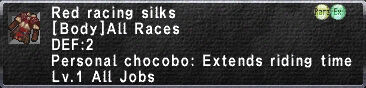 Red Racing Silks