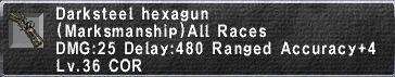 Darksteel Hexagun