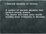 Emerald Abyssite of Fortune