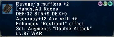Ravager's Mufflers +2