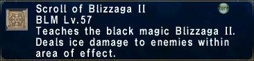 Scroll of Blizzaga II