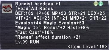 Runeist's Bandeau +1