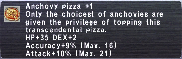 Anchovy Pizza +1