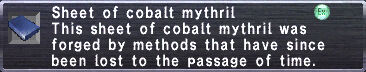 Cobalt Mythril Sheet